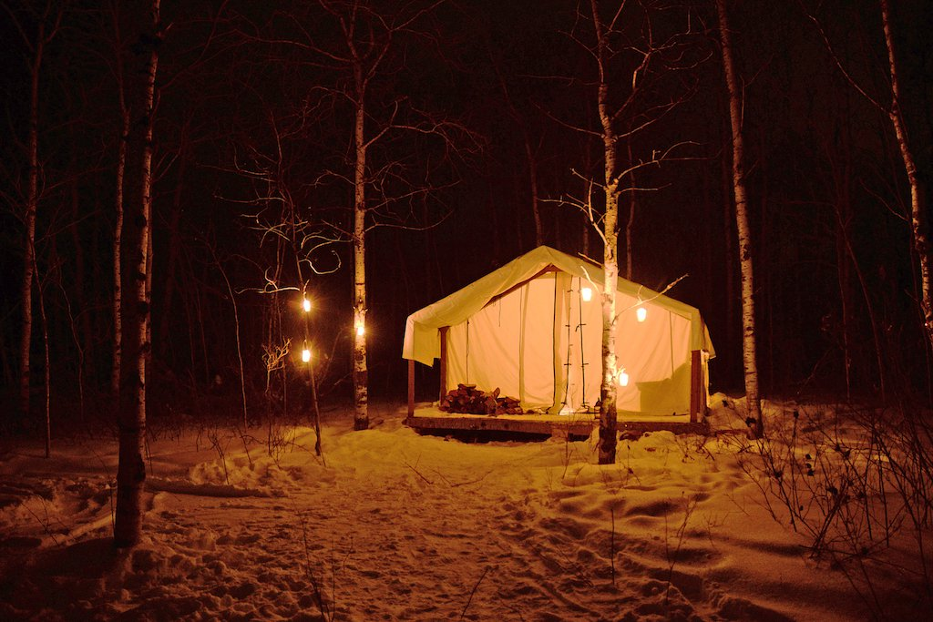 Harness Adventure Glamping at Night